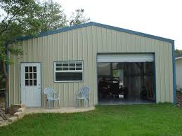awesome metal rv garage kits architecture penaime cream concrete wall of metal rv garage kits has white door and windows it also has
