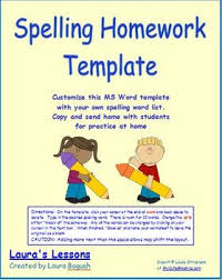 free spelling homework template for grades 1 3 it u0027s a snap to