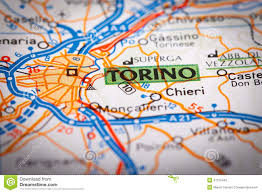 City Map Of Torino Turin by Torino City On A Road Map Stock Photo Image 41310445