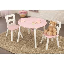 Children S Chair And Table Lipper Hugs And Kisses Table And 2 Chair Set White U0026 Pink
