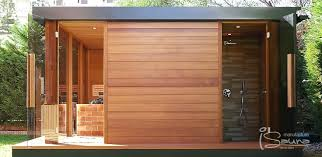 Outdoor Shower Room - individual built lugano luxury sauna house