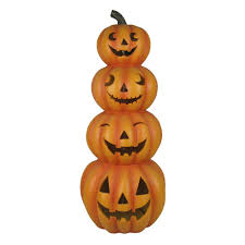 light up jack o lantern light up stacked jack o lantern table decor fake pumpkins