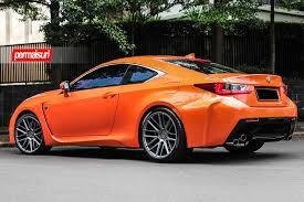 lexus rc f in orange vossen wheels lexus rcf vossen forgedprecision series vps 308