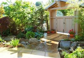 Japanese Garden Layout Beautiful Small Garden With Water Fountains And Fish Pond Layout