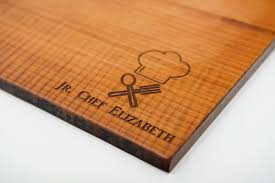 engraved cutting boards honey roasted junior chef cutting board engraved personalization