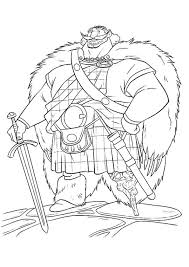 brave coloring pages king fergus coloringstar