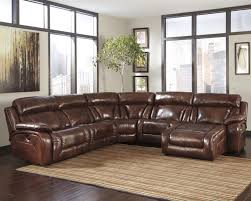 Leather Sectional Recliner Sofa by Decorating Fill Your Living Room With Elegant Ashley Furniture