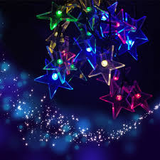Outdoor Solar String Lights Patio Zitrades Outdoor Solar String Lights 20 Colorful Rgb Star For