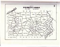 County Map Of Pennsylvania by Civil War Blog