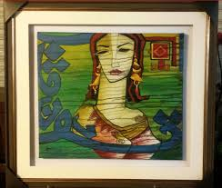 we have all kind of range from water painting oil painting canvas mix um glass woven etc this is created with free art