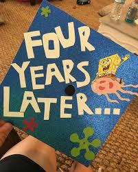 Cap Decorations For Graduation Graduation Cap Ideas Spongebob Patrick Graduation Cap Ideas