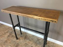 salvaged wood console table reclaimed barn wood console table with pipe legs 30 height barn xo