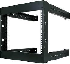 8u wall mount cabinet 8u wall mount open fixed adjustable rack wr1005 f wr1005