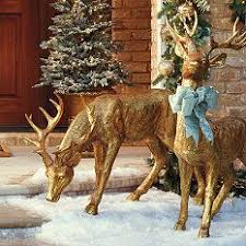 Elegant Christmas Decorations For Outside by Feeding Deer Figure Holidaydecor Frontgate Holiday Decor