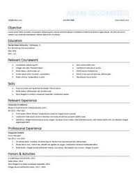 Good Job Objectives For A Resume by Resume For Internship 998 Samples 15 Templates How To Write