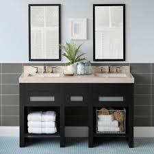 58 u201d kendra double bathroom vanity set with ceramic sinks and