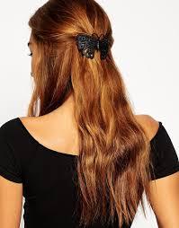 butterfly for hair lyst asos butterfly hair slide in black