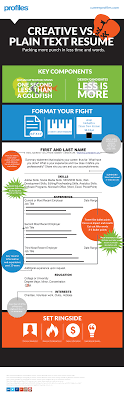 plain text resume template infographic plain text resume template profiles
