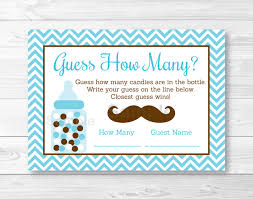 cute mustache guess how many game mustache baby shower