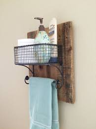 wire towel rack with basket towel