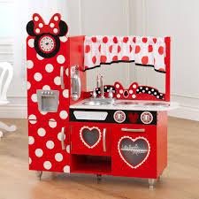 kids kitchen furniture kidkraft red vintage play kitchen 53173 hayneedle