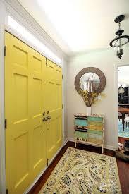 good day sunshine yellow painted doors pretty handy