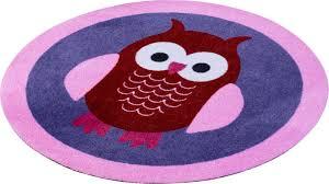 teppich rund rosa kinder teppich rund zala living eulen getuftet bestellen baur