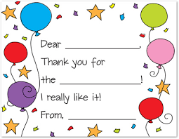 kids thank you cards colorful special balloons fill in thank you cards stationery