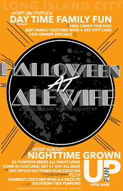 halloween at alewife lic new york craft beer events
