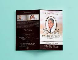 Downloadable Funeral Program Templates Funeral Brochure Template Dusk Funeral Trifold Brochure Template