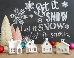 diy putz village ornament kit of 4 christmas glitter house