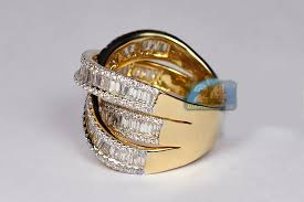 highway wedding band womens baguette diamond highway ring band 18k gold 3 93 ct