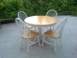 Garden Table And Chairs Ebay Simple White Round Dining Table 4 Legs Glass With Leather Chairs