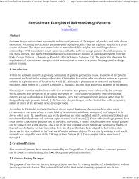 of four design patterns non software exles of software design patterns pdf