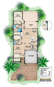 narrow cottage plans mediterranean house plans home design 11498