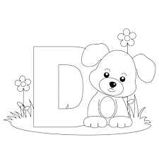 letter d coloring pages preschool t printable animal alphabet