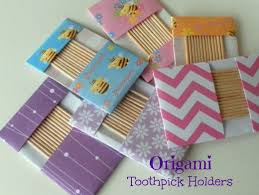 Toothpick Holders Fun With Paper Folding And Origami How To Make Origami Toothpick