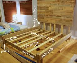 bed frame how to make a bed frame out of pallets zmukdy how to