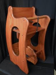 High Chair Rocking Horse Desk Plans Amazon Com Wooden 3 In 1 Combo Highchair Rocker Desk Solid Oak