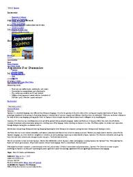 japanese for dummies by eriko sato read online international