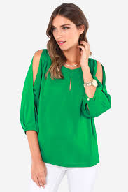 green blouses green top cold shoulder top green blouse 45 00