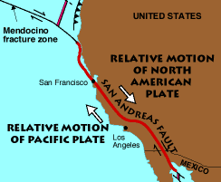 san francisco fault map map of san andreas fault plate boundary