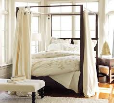 stylish diy bed canopy with curtains andrea outloud