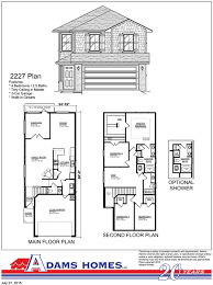 Patio Homes Floor Plans Lakes At Hidden Forest Adams Homes