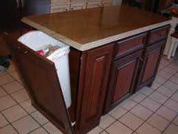 kitchen island with trash bin kitchen trash cans in cabinet roselawnlutheran