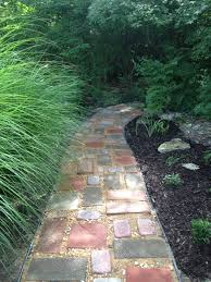 diy garden path on a budget recycled pavers left over quick