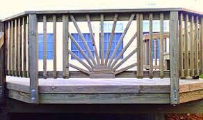 How To Make Handrails For Decks The Best Sunburst Deck Railing Designs Make A Dramatic Impact On