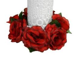flower candle rings candle rings
