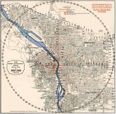 New Orleans Street Car Map by 1933 1st National Bank Map Portland History Pinterest