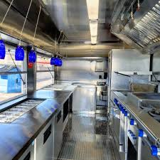 typical kitchen equipment on the food truck prime design
